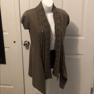 NWOT Crochet Trim Cardigan Sweater Size Small